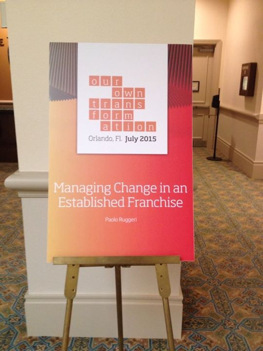 immagine HOW TO MANAGE CHANGE IN AN ESTABLISHED FRANCHISE, ORLANDO FLORIDA
